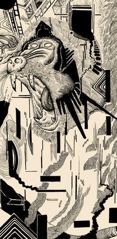 EVO - Imarginal x Sang #dotwork #nankin #art #surrealism #posca #blackwork #ttt #imarginal #sang #aeo #illustration #duo #stadler #linework #lines #black #space #scifi #fiction #sun #spaceship #mandril #minerals #geometry #biology #future