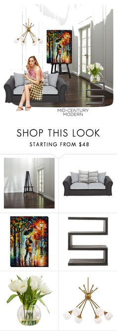 """""""Untitled #277"""" by angela-villano ❤ liked on Polyvore featuring interior, interiors, interior design, home, home decor, interior decorating, Crate and Barrel, Andrew Martin and George Kovacs by Minka"""