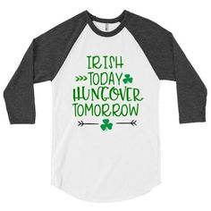 Irish Today Hungover Tomorrow Shamrock Cutie Lucky I Pinch Back St. Patrick's Day shirt vinyl decal green beer cute irish SVG Cut File • Cricut • Silhouette Vector • Calligraphy • Download File • Cricut • Silhouette Cricut projects - cricut ideas - cricut explore - silhouette cameo By Kristin Amanda Designs Diy St Patricks Day Shirt, St Patricks Day Clothing, St Patrick Day Shirts, St Pattys Day Outfit, St Patrick's Day Outfit, St. Patrick's Day Diy, Green Beer, Silhouette Vector, St Pats