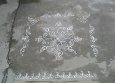 Indian Rangoli, Simple Rangoli, Beautiful Rangoli Designs, Border Design, Simple Designs, Gate, Asia, My Favorite Things, Places