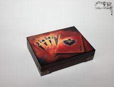 Spielkarten-Box aus HolzPoker Karten Kartenspiel  von UltroViolet