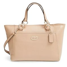 Coach tan tote bag http://rstyle.me/n/wupywbna57
