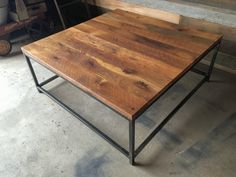 Box Frame Reclaimed Wood Coffee Table Square Coffee by wwmake