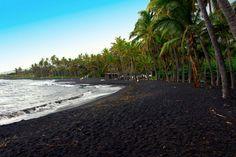 tripbucket | Dream: See Punaluʻu #Beach (#Black Sand Beach), #Hawaii