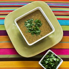 Kalyn's Kitchen®: Chipotle and Black-Eyed Pea Soup with Double Cilantro (Vegetarian, can easily be made vegan)