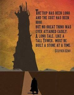 The Dark Tower / Stephen King poster creato da Spencer Bonez Steven King Quotes, Dark Tower Tattoo, The Dark Tower Series, Stephen King Books, Stephen Kings, Book Quotes, Inperational Quotes, Horror Quotes, Qoutes