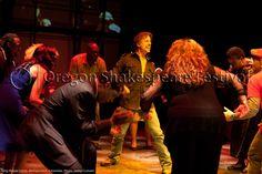 Oregon Shakespeare Festival. PARTY PEOPLE (2012): Michael Elich, Ensemble. Photo: Jenny Graham.