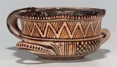 A trefoil-lipped cup greek pottery from the Geometric Perioc - Circa 750-725 BCE