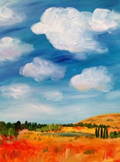 A Day in the Country by MaliaZaidiArt on Etsy #oiloncanvas #art #painting