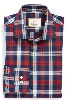 Todd Snyder White Label Trim Fit Plaid Dress Shirt available at  Nordstrom  Plaid Dress 7cdf065ce
