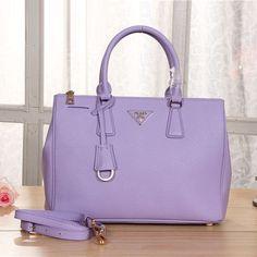 Prada BN2274 Original Grainy Leather Tote Bag Lavender