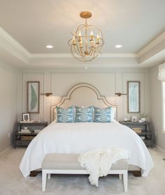 Tuscan Blue Design | Livable Design – Monrovia, MD. Ballard Designs used in the bedroom