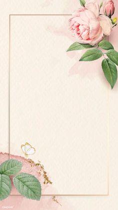 Floral rectangle golden frame vector   premium image by rawpixel.com / nunny #vector #vectorart Flower Background Wallpaper, Framed Wallpaper, Flower Backgrounds, Mobile Wallpaper, Background Patterns, Wallpaper Backgrounds, Rose Frame, Flower Frame, Cellphone Wallpaper