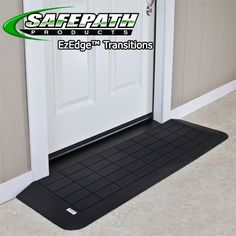 Ez Edge Rubber wheelchair ramps for ADA compliance Safepath products. EZEdge Threshold Ramps not EZ Access.