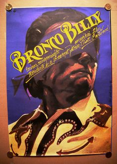 Bronco Billy (1980) Hungarian vintage movie poster Artist by:Éri Jenő Tamás