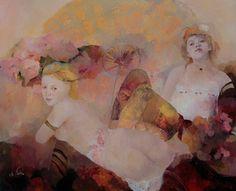 Francoise De Felice - Coral Cloud, Oil on canvas 81 x 100 cm 2014