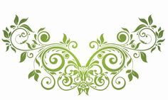 swirly Clip Art | Vector Swirl Floral Design Element | Free Vector Graphics | All Free ...