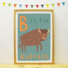 Buffalo poster/print | Paper Penknife