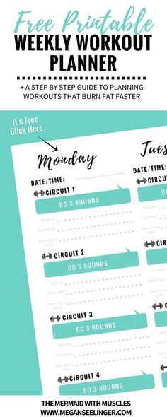 You want to start going to the gym or have already started, but feel like your still thinking, What should I do at the gym? I need a workout plan. I have created a free printable weekly workout planner that will show you exactly how to make your own worko Best Workout Plan, Perfect Workout, Workout Ideas, Fitness Planner, Workout Planner, Gym Planner, Fitness Tips, Workout Schedule, Happy Planner