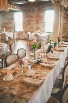 rustic reception tablescapes