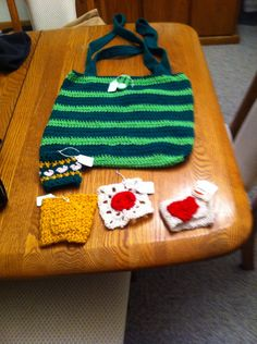 Cute bag, coffee cup cozy and coaster