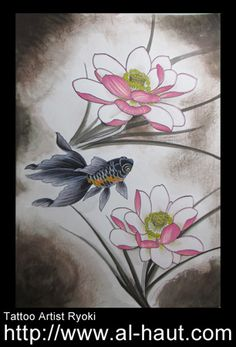 Japanese tattoo artist Ryoki working in Berlin Germany.https://www.facebook.com/pages/Al-Haut-RyokiTattoo-studio-in-Osaka-Japan/131588156870070?ref=hl