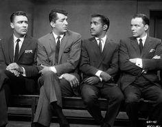 The Rat Pack (part of it) Peter Lawford, Dean Martin, Sammy Davis Jr., Frank Sinatra.