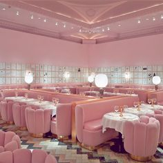 A restaurant so pink and sugary-sweet we get a toothache just looking at it