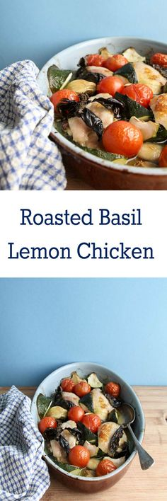 Roasted Basil Lemon Chicken Get dinner on the table in less than 30 minutes with this cheats roasted basil and lemon chicken dish. Super easy recipe and packed full of flavour. Get it now.