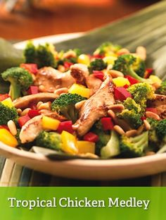 Tropical Chicken Medley {leaner}  http://www.youfit.tsfl.com  http://www.facebook.com/healthconfessions