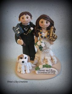 Wedding Cake Topper ~ Custom Made by Trina's Clay Creations