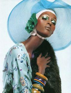 Yasmin Warsame by Steven Meisel Vogue Italia 2003