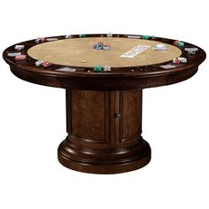 Mahogany Round Poker Table SKU: 493366 | Home Office | Pinterest | Poker  Table, Poker And Rounding