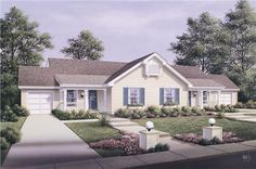This lovely Multi-Unit style home with Ranch influences (Multi-Family House Plan #138-1057) has 1704 square feet of living space per unit. The 1 story floor plan includes 4 bedrooms per unit.