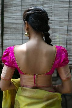 20 Latest Saree Blouse Designs for Stylish Look - ArtsyCraftsyDad Latest Saree Blouse, Saree Blouse Neck Designs, Simple Blouse Designs, Choli Designs, Lehenga Blouse, Designer Blouse Patterns, Blouse Models, Sarees, Golden Blouse