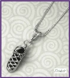 Highland Dance Necklace with Ghillie Sterling Silver 20 Inch Chain