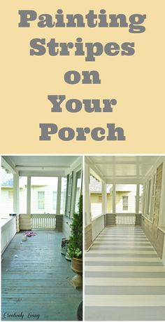 How to Paint Stripes on Your Porch