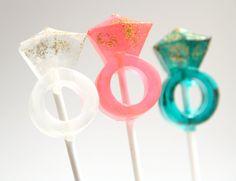 Ring Bling Lollipops 1/2 dozen by sweetniks on Etsy, $11.00