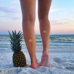 palm tree flash tattoos