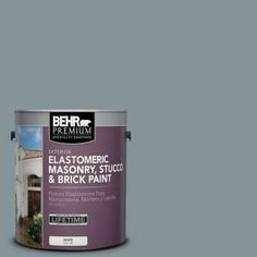 BEHR Premium 1-gal. #MS-68 Cape Storm Elastomeric Masonry, Stucco and Brick Paint-06701 at The Home Depot