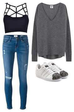 """""""Untitled #375"""" by spiritxxmagic ❤ liked on Polyvore featuring Frame Denim and adidas Originals"""