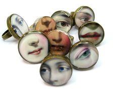 Occhio dell'amante resina anello anello di GoldFingerBarcelona