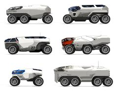 vehicle sketches, Sam Brown on ArtStation at https://www.artstation.com/artwork/oAA9z