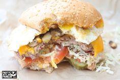 mushroom and egg hamburger from O! Burger