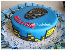 Torta hombre araña negro // SpiderMan Black Cake