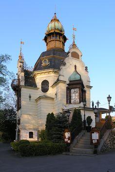 Prague's Hanau Pavilion (1891) in Neo-Baroque style at Letná, Prague, Czechia #architecture #Czechia #Prague