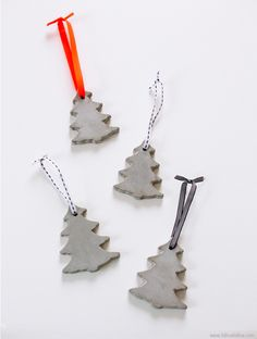 DIY Concrete Ornaments