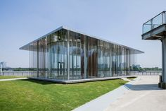 Schmidt Hammer Lassen's Cloud Pavilion is a glass-walled events space in Shanghai