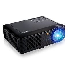 Full HD Portable LED 4000 Lumens Video Projector, Support 1080P SV - 228 Home Theater 1280 × 800 Pixels Multimedia Projector for Video Games, Movie Night, Family Videos and Pictures(Black)