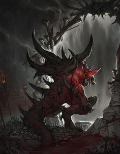 1601_Diablo2 fanart_Enter Hell, minjun Kim on ArtStation at https://www.artstation.com/artwork/93kDL